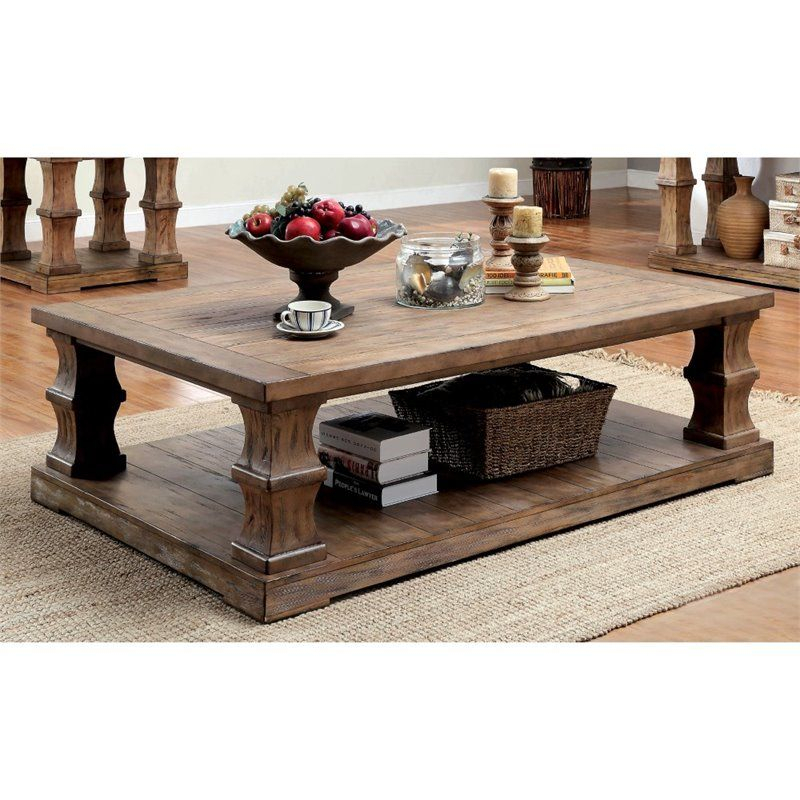 Lowest Price Online On All Furniture Of America Belassio For Jessa Rustic Country 54 Inch Coffee Tables (Image 16 of 25)