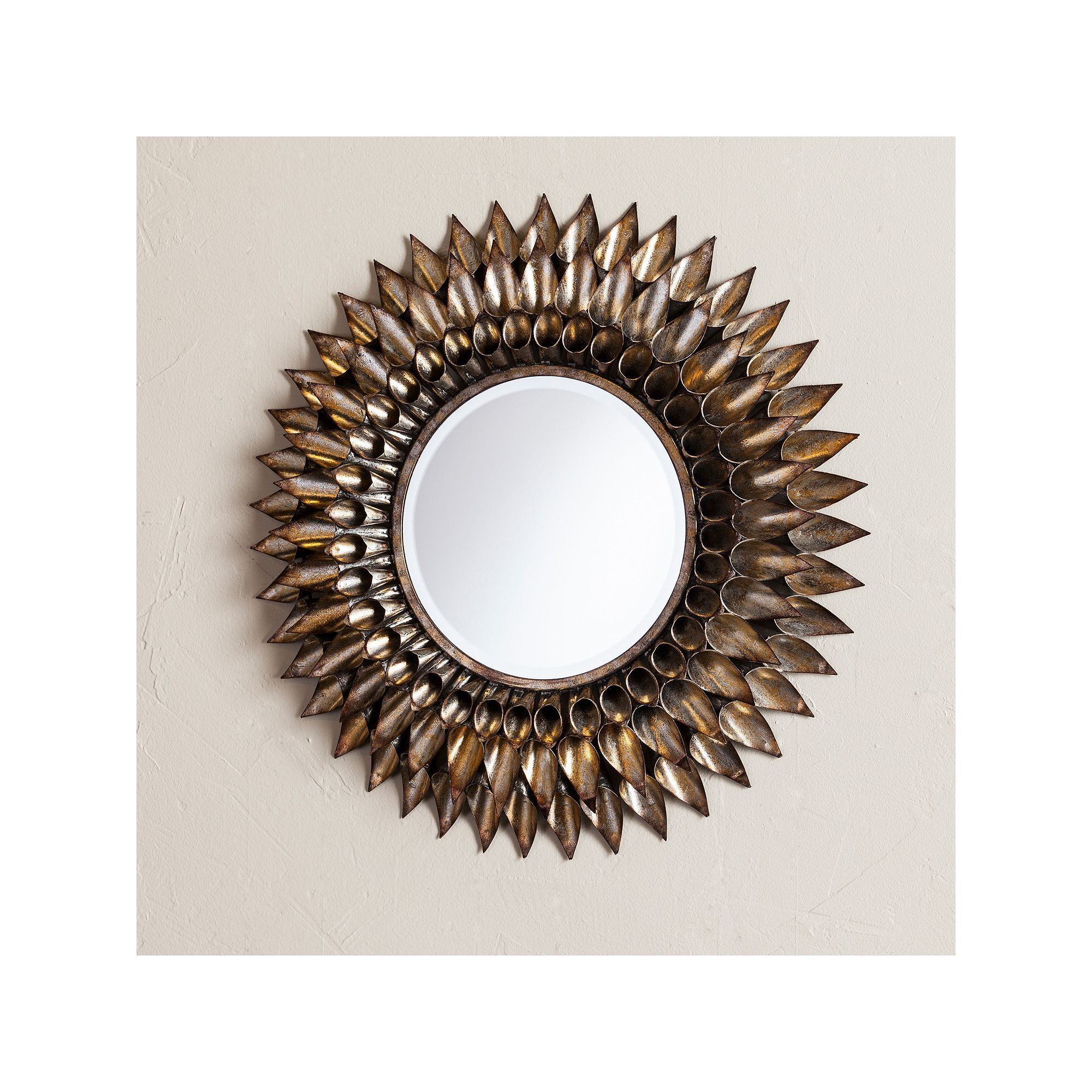 Luella Round Decorative Wall Mirror In Kentwood Round Wall Mirrors (View 18 of 20)