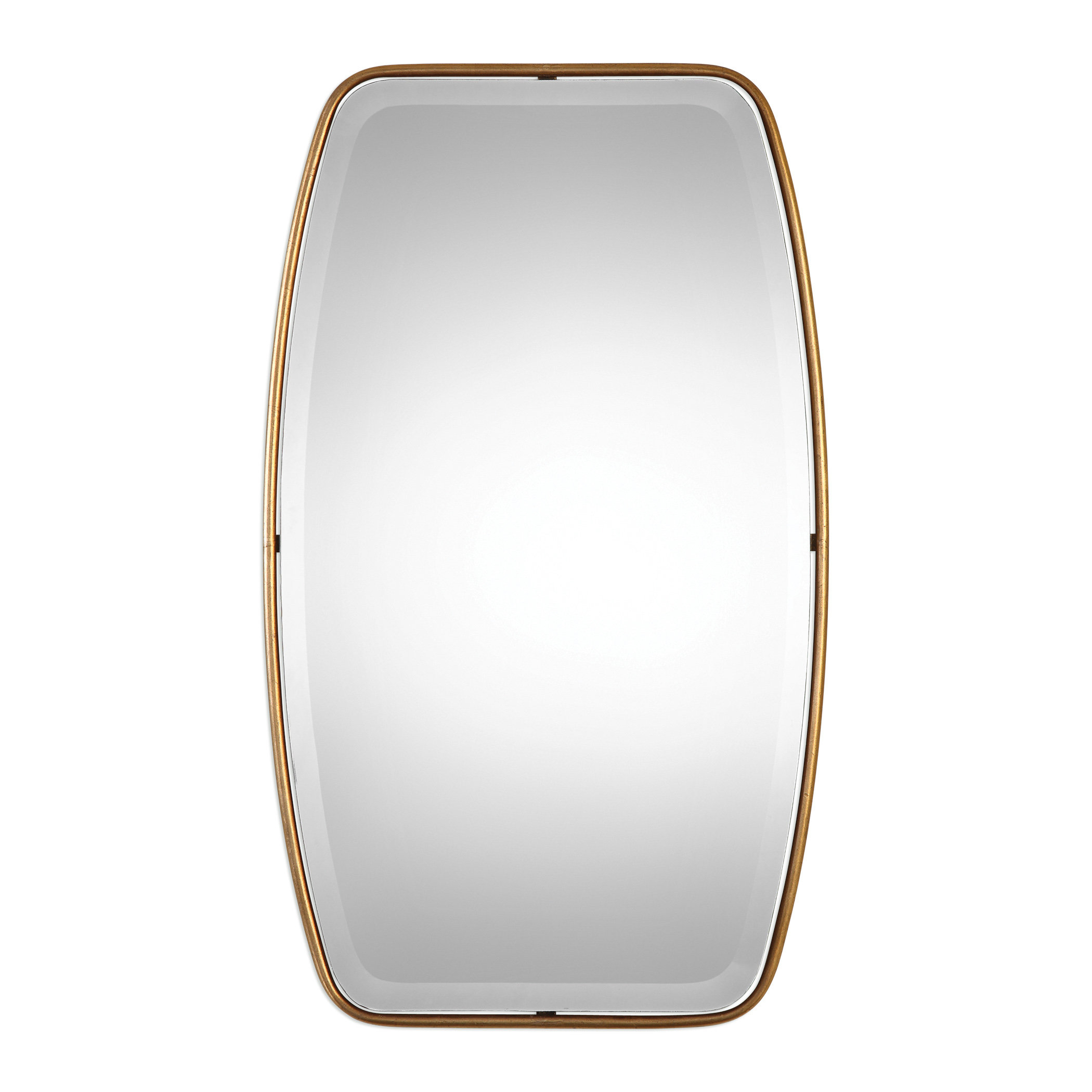 Lugo Rectangle Gold Metal Wall Mirror Inside Lugo Rectangle Accent Mirrors (Image 11 of 20)