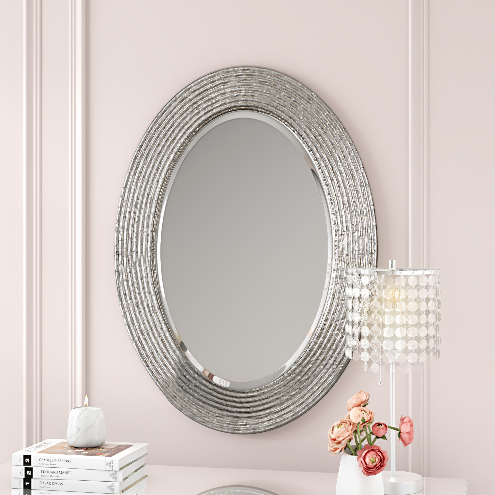 Luis Conder Oval Accent Mirror Within Oval Metallic Accent Mirrors (Image 13 of 20)