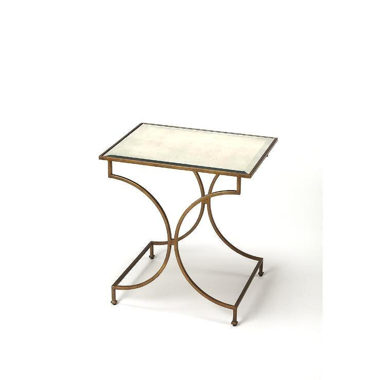 Luxurious Gold Glass End Table – Mobilefriend (Image 6 of 25)