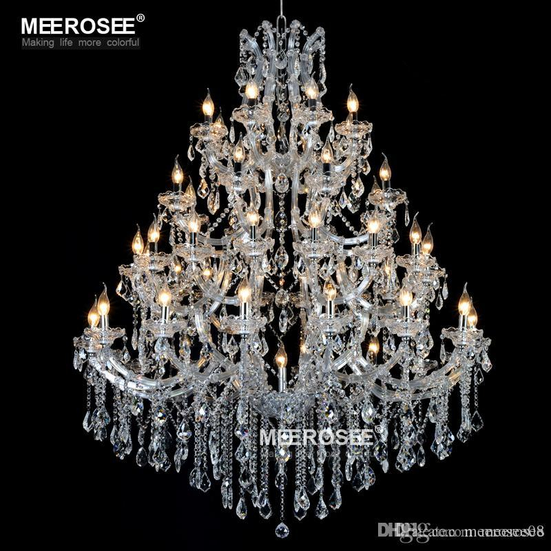 Luxurious Large Crystal Chandelier Lighting Maria Theresa Crystal Light For Hotel Project Restaurant Lustres Luminaria Lamp Inside Thresa 5 Light Shaded Chandeliers (View 13 of 20)