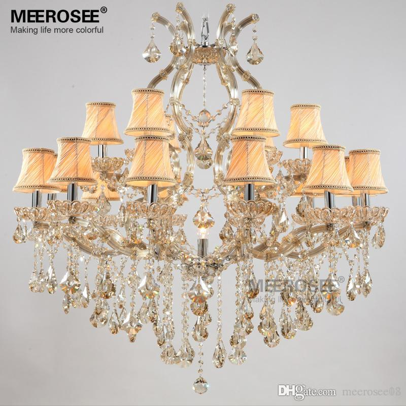 Luxury Crystal Chandelier Light Fixture Maria Theresa Crystal Luster Lamp Deckenleuchten For Lobby Stair Hallway Project Md8475 With Thresa 5 Light Shaded Chandeliers (View 10 of 20)