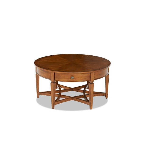 Made To Order Wentworth Round Coffee Table Regarding Gracewood Hollow Dones Traditional Cinnamon Round End Tables (View 5 of 25)