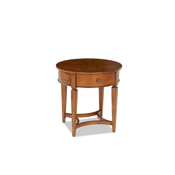 Made To Order Wentworth Round End Table Within Gracewood Hollow Dones Traditional Cinnamon Round End Tables (View 3 of 25)