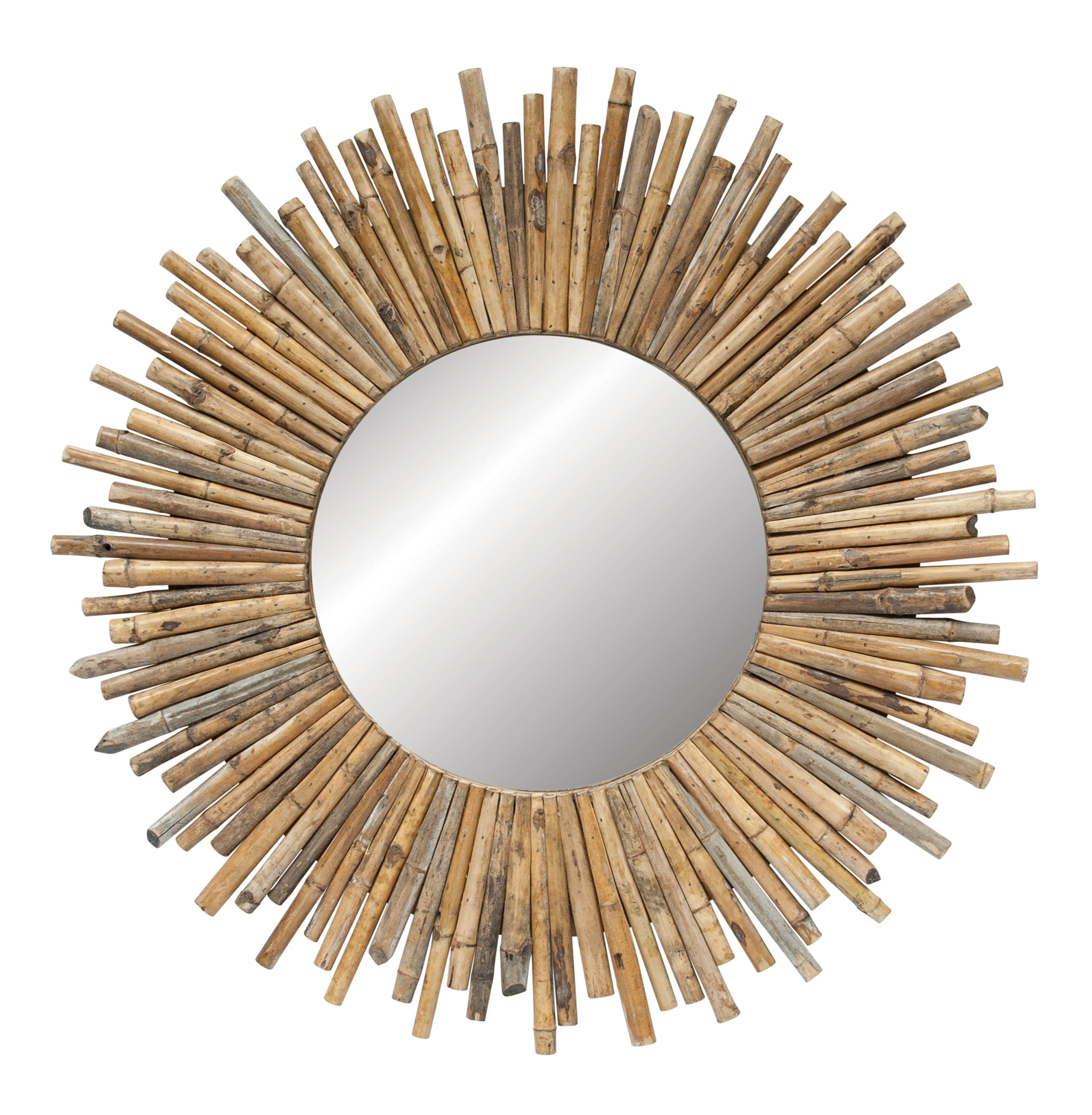 Madilynn Eclectic Accent Mirror | Joss & Main Inside Perillo Burst Wood Accent Mirrors (Image 13 of 20)