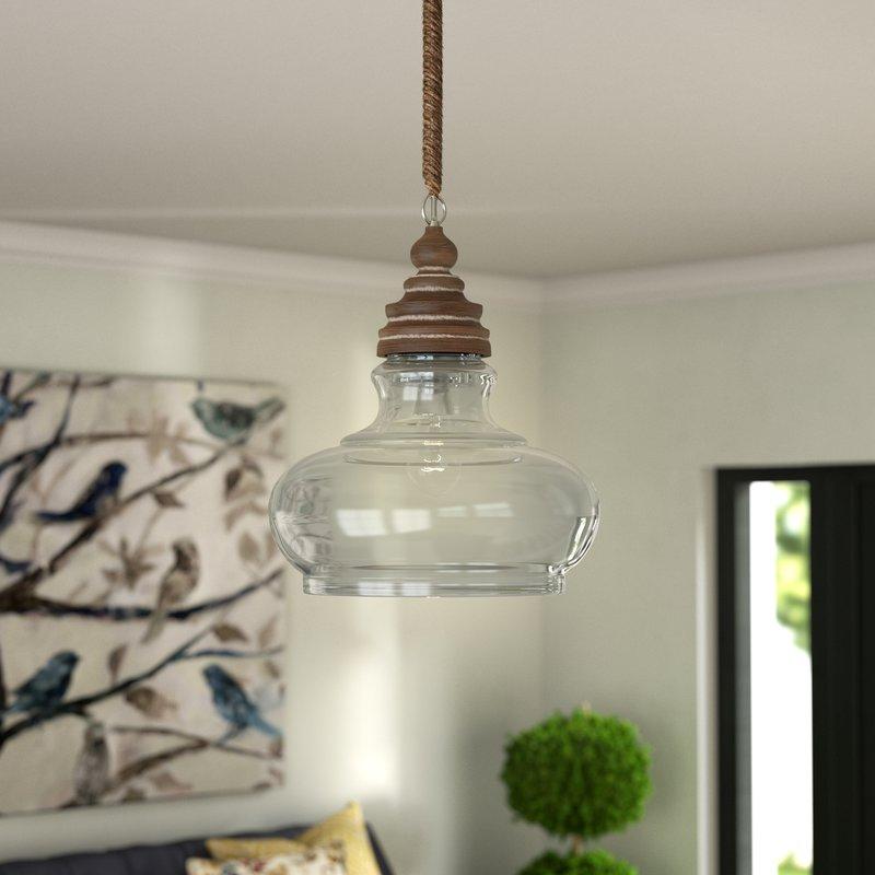 Maelle 1 Light Single Bell Pendant Intended For Akakios 1 Light Single Bell Pendants (View 9 of 25)