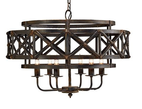 Magnolia Homejoanna Gaines – Metal Industrial Trestle Inside Gaines 5 Light Shaded Chandeliers (View 19 of 20)