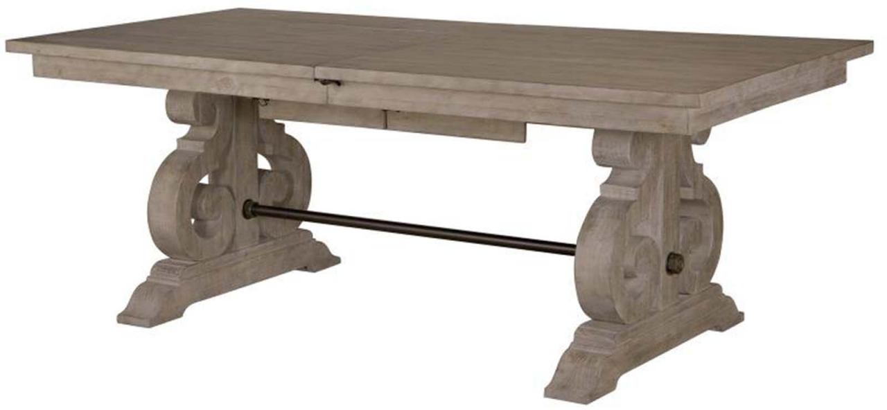 Magnussen Furniture Tinley Park Rectangular Dining Table In Dove Tail Grey D4646 20 Inside Tinley Park Traditional Dove Tail Grey Coffee Tables (View 6 of 25)