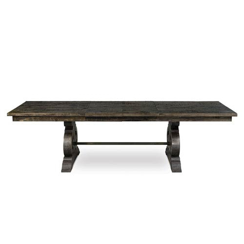 Magnussen Home Bellamy Deep Weathered Pine Wood Rectangular Dining Table Inside Bellamy Traditional Weathered Peppercorn Storage Coffee Tables (View 5 of 25)
