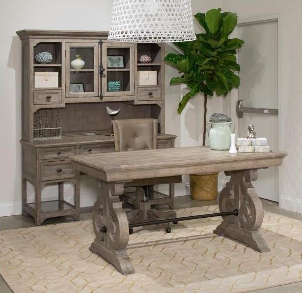 Magnussen Home Tinley Park Dove Tail Grey Office Desk And Chair Set With Regard To Tinley Park Traditional Dove Tail Grey Coffee Tables (View 12 of 25)