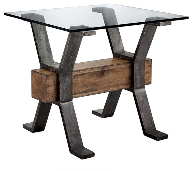 Magnussen T4570 Sawyer Rectangular End Table With Regard To Sawyer Industrial Reclaimed Rectangular Cocktail Tables (View 8 of 50)