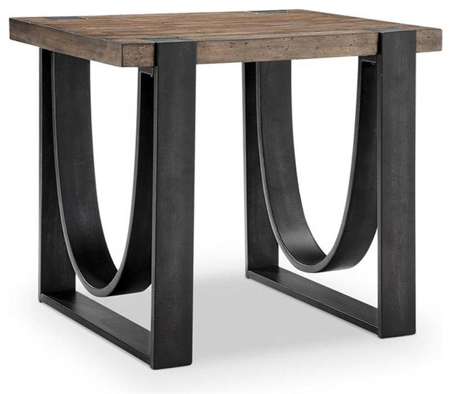 Magnussen T4635 Bowden Rectangular End Table With Dravens Industrial Cherry Coffee Tables (Image 15 of 25)