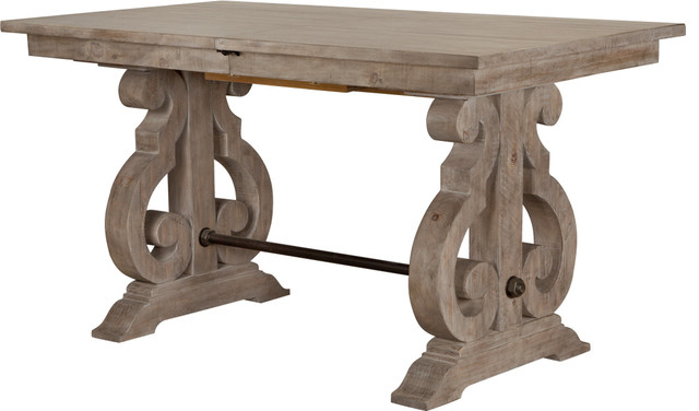 Magnussen Tinley Park Rectangular Counter Table In Dove Tail Gray For Tinley Park Traditional Dove Tail Grey Coffee Tables (View 8 of 25)