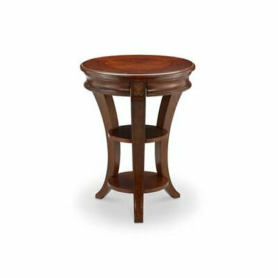Magnussen Winslet Round Accent End Table In Cherry – $ (View 16 of 25)