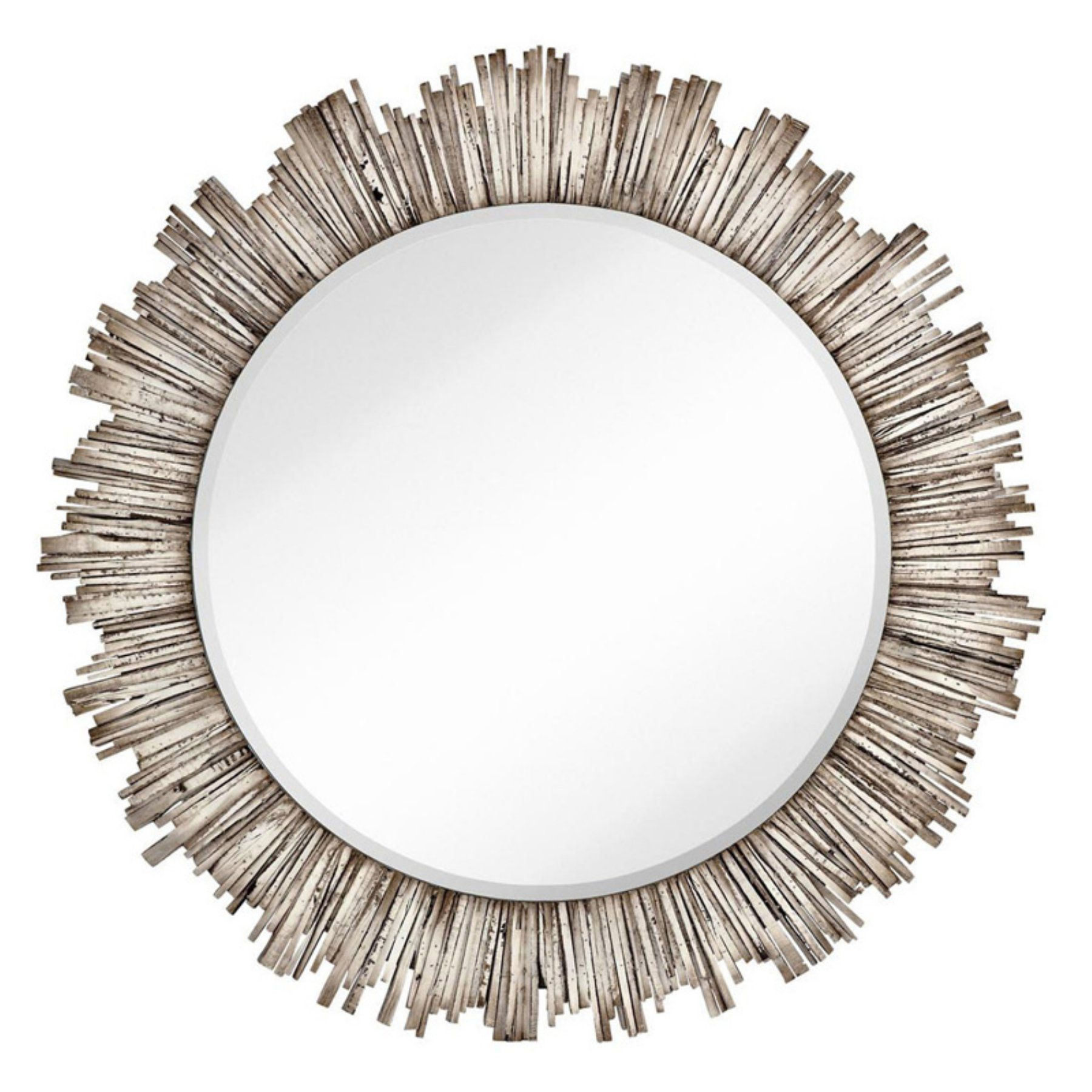 Majestic Large Round Beveled Accent Wall Mirror – 2333 B With Round Eclectic Accent Mirrors (Image 8 of 20)