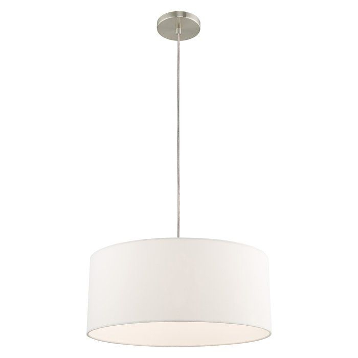 Malani 1 Light Drum Chandelier In 2019 | Fire House Ideas Intended For Kasey 3 Light Single Drum Pendants (View 5 of 25)