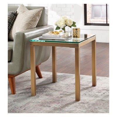 Manhattan End Table Gold – Buylateral   Products   Table Throughout Simple Living Manhattan Coffee Tables (View 7 of 25)
