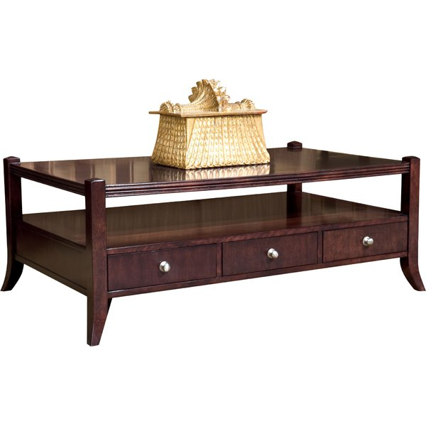 Manhattan Rectangular Coffee Table With Storage Intended For Simple Living Manhattan Coffee Tables (View 9 of 25)