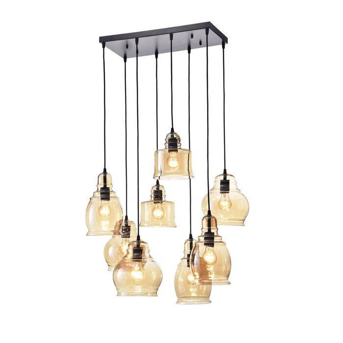 Manon 8 Light Cluster Bell Pendant For Pruett Cognac 3 Light Cluster Bell Pendants (View 22 of 25)