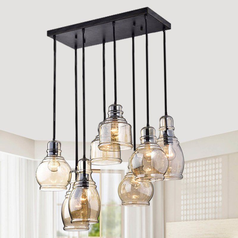 Manon 8 Light Cluster Bell Pendant | Kitchen Remodel In 2019 With Regard To Vernice 3 Light Cluster Bell Pendants (Image 6 of 25)