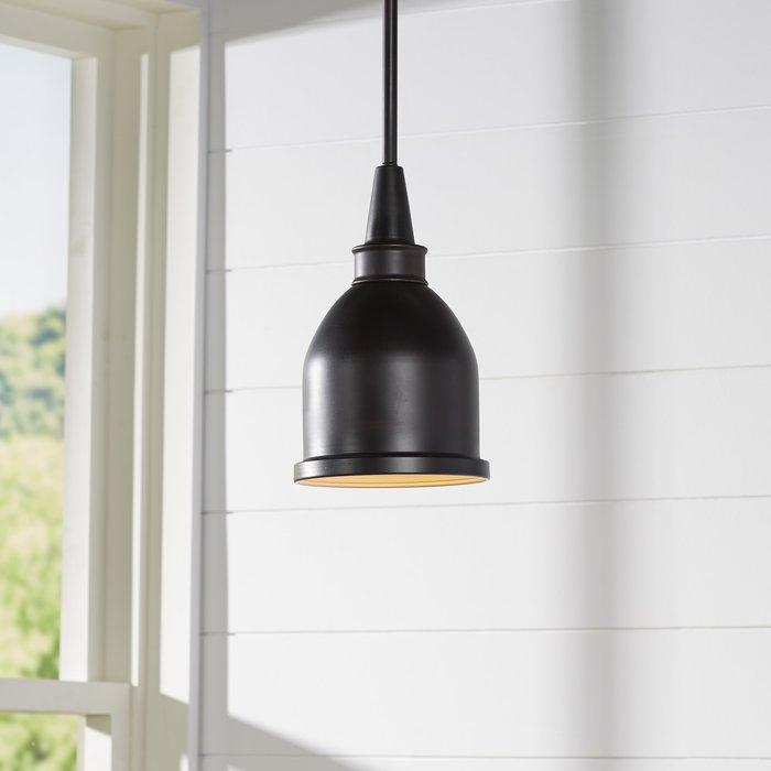 Manston 1 Light Single Bell Pendant For Hamilton 1 Light Single Dome Pendants (Image 14 of 25)