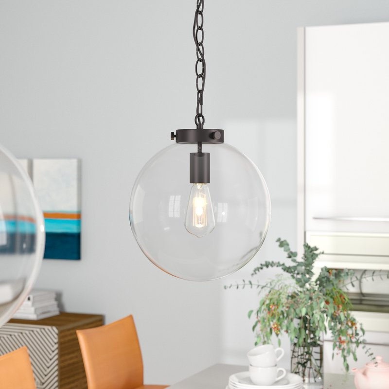 Manzo 1 Light Globe Pendant Pertaining To 1 Light Globe Pendants (Image 14 of 25)