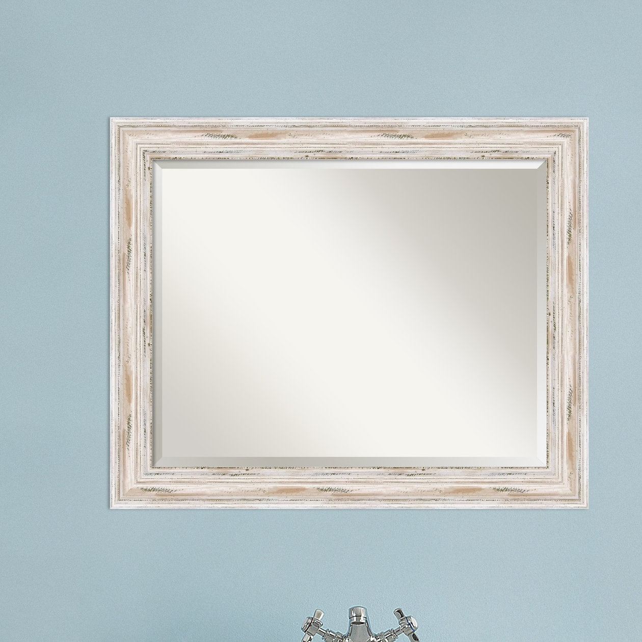 Marion Beveled Distressed Bathroom Wall Mirror With Marion Wall Mirrors (Image 9 of 20)