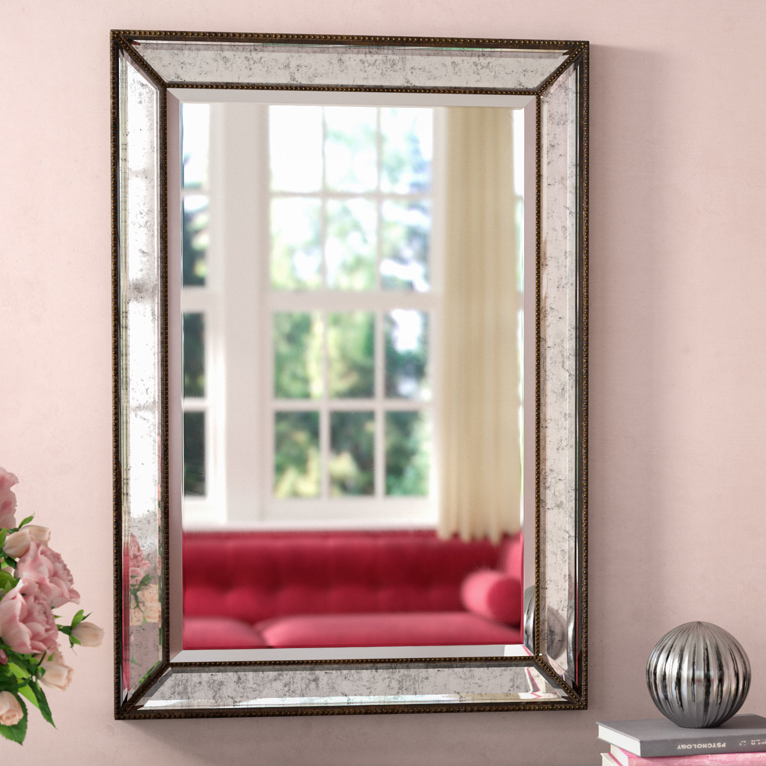 Marsha Traditional Rectangle Mdf/mirror Framed Accent Mirror Within Tutuala Traditional Beveled Accent Mirrors (View 17 of 20)