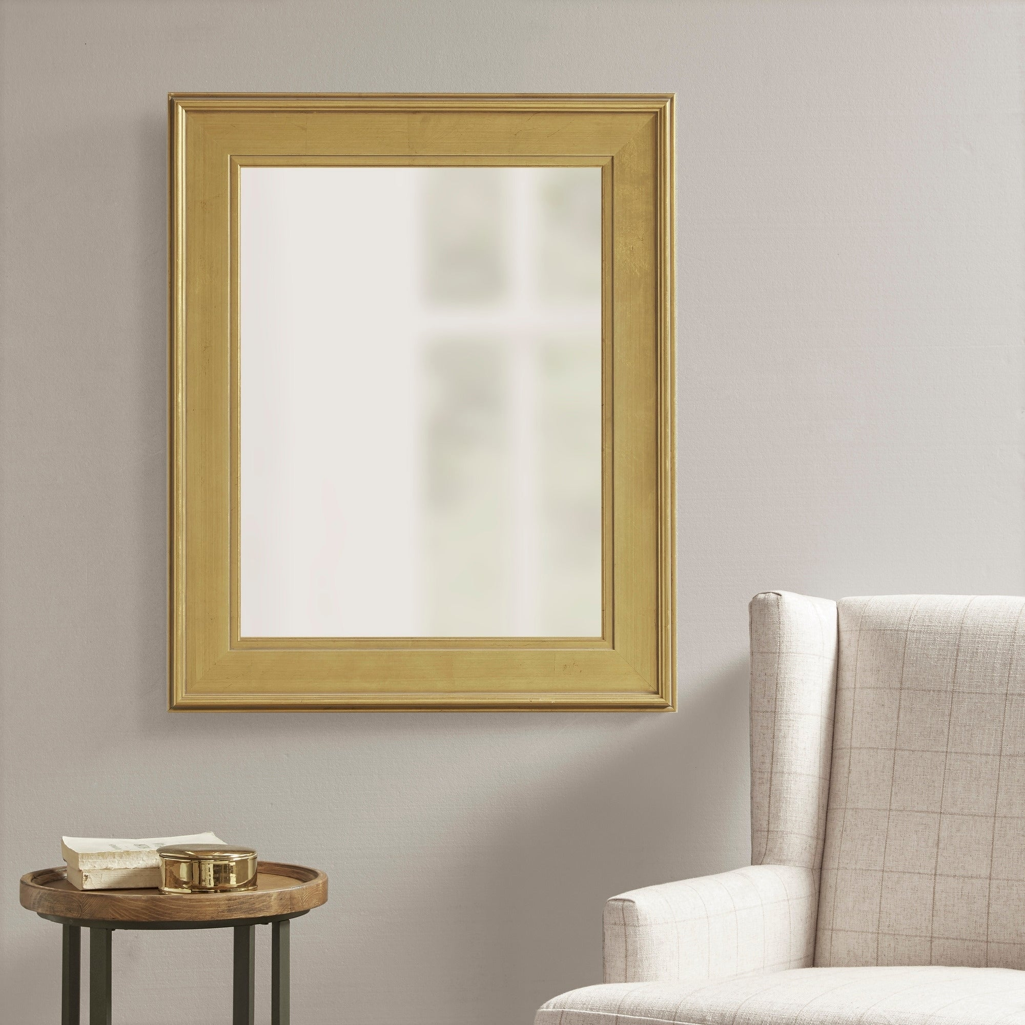 Martha Stewart Westchester Antique Gold Rectangle Accent Mirror – Antique Gold With Regard To Reba Accent Wall Mirrors (View 13 of 20)