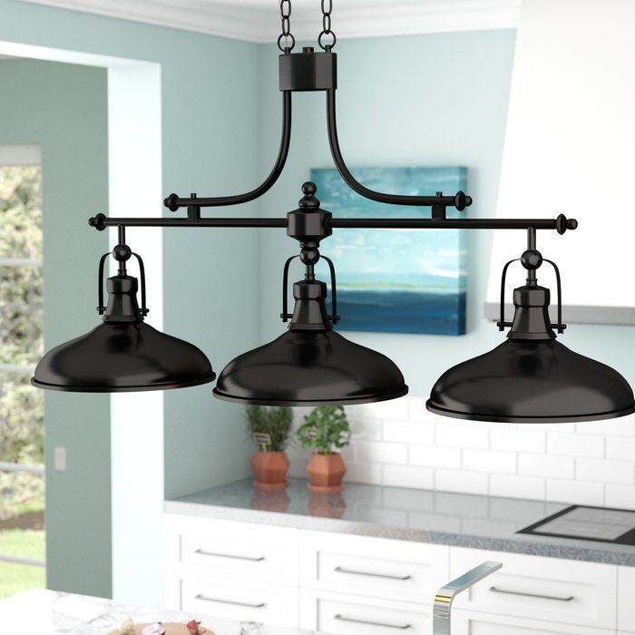Martinique 3 Light Kitchen Island Dome Pendant | For The Intended For Ariel 2 Light Kitchen Island Dome Pendants (Image 21 of 25)