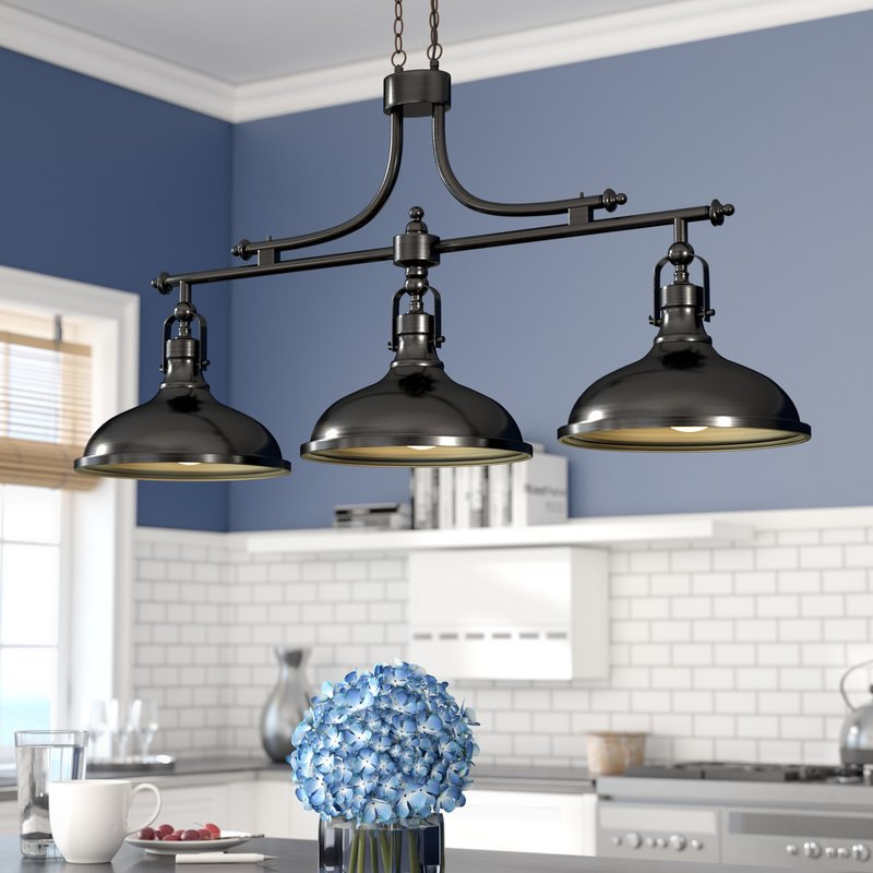 Martinique 3 Light Kitchen Island Dome Pendant Inside Warner Robins 3 Light Lantern Pendants (View 15 of 25)