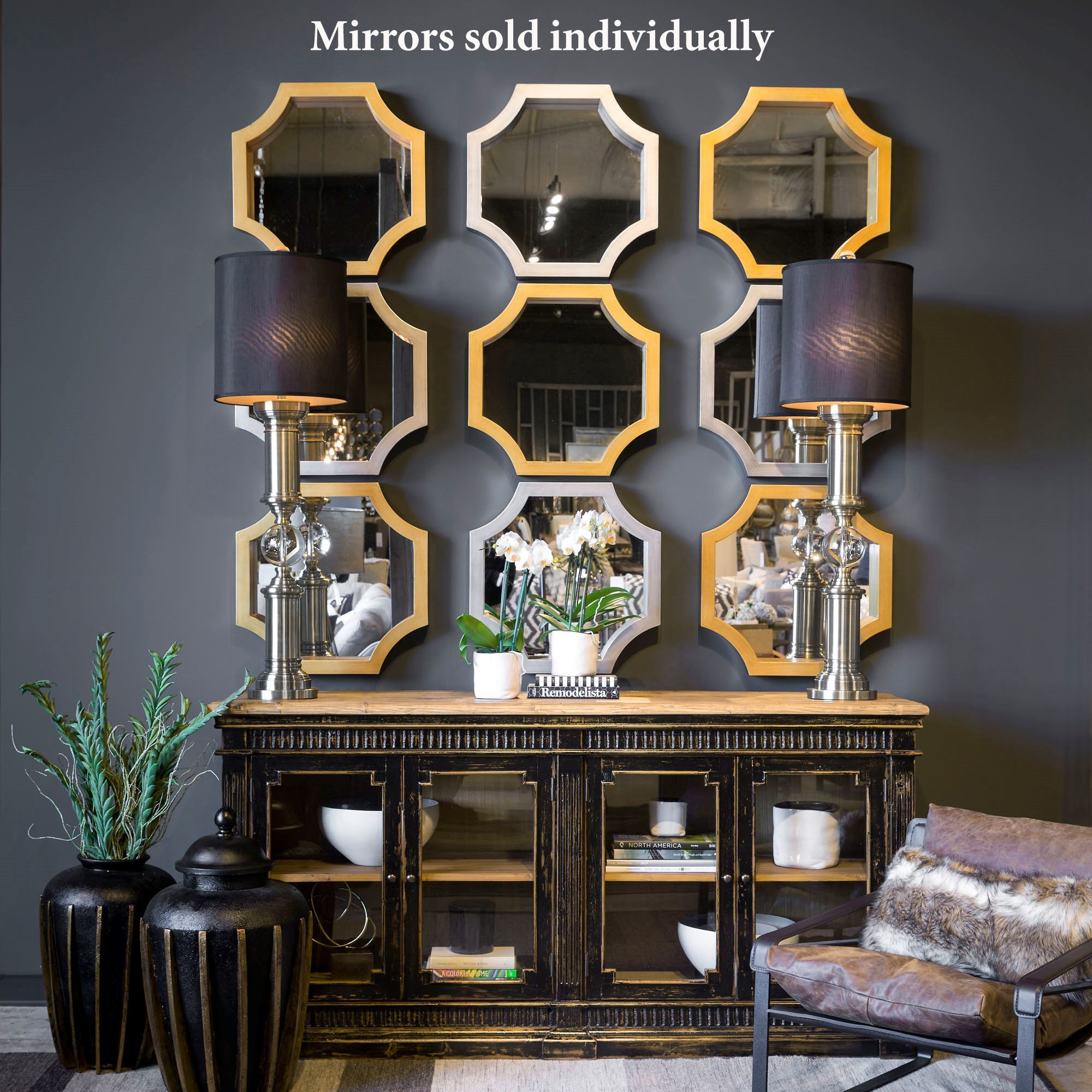 Mattingly Octagonal Accent Wall Mirror Regarding Accent Wall Mirrors (Image 20 of 20)
