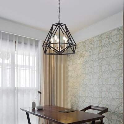 Maxax Industrial Metal Modern Pendant Lighting Fixture 5 Lights Maxax Throughout Akash Industrial Vintage 1 Light Geometric Pendants (Image 12 of 25)