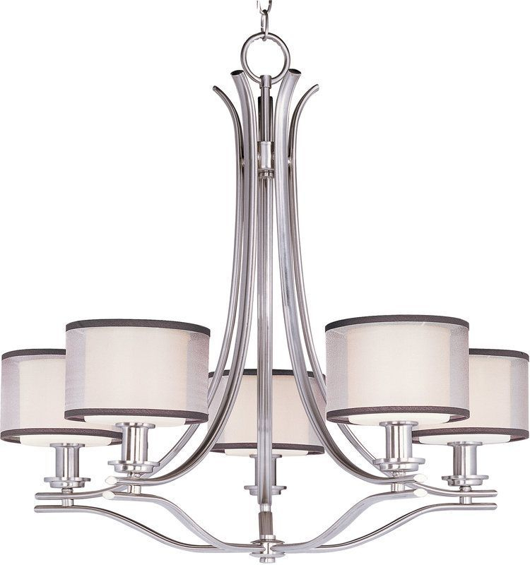 Maxim 23035 | Products | 5 Light Chandelier, Chandelier Pertaining To Hermione 1 Light Single Drum Pendants (View 24 of 25)