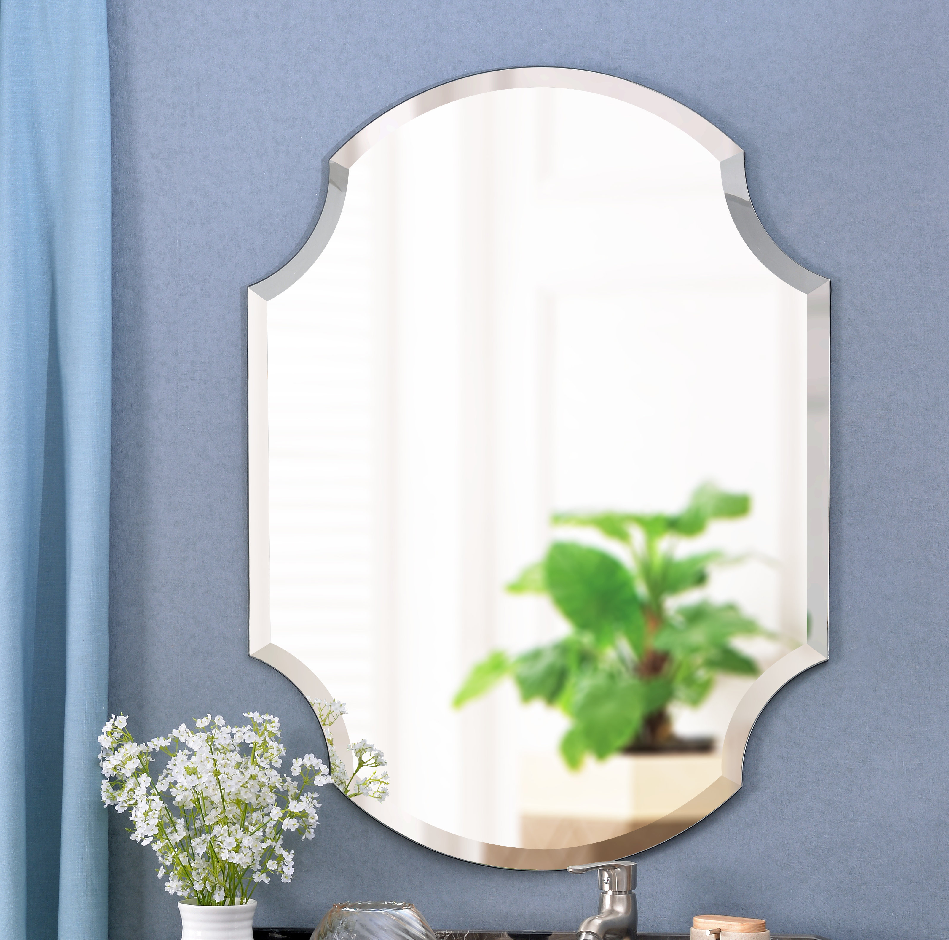 Mcclure Accent Mirror For Dariel Tall Arched Scalloped Wall Mirrors (Image 12 of 20)