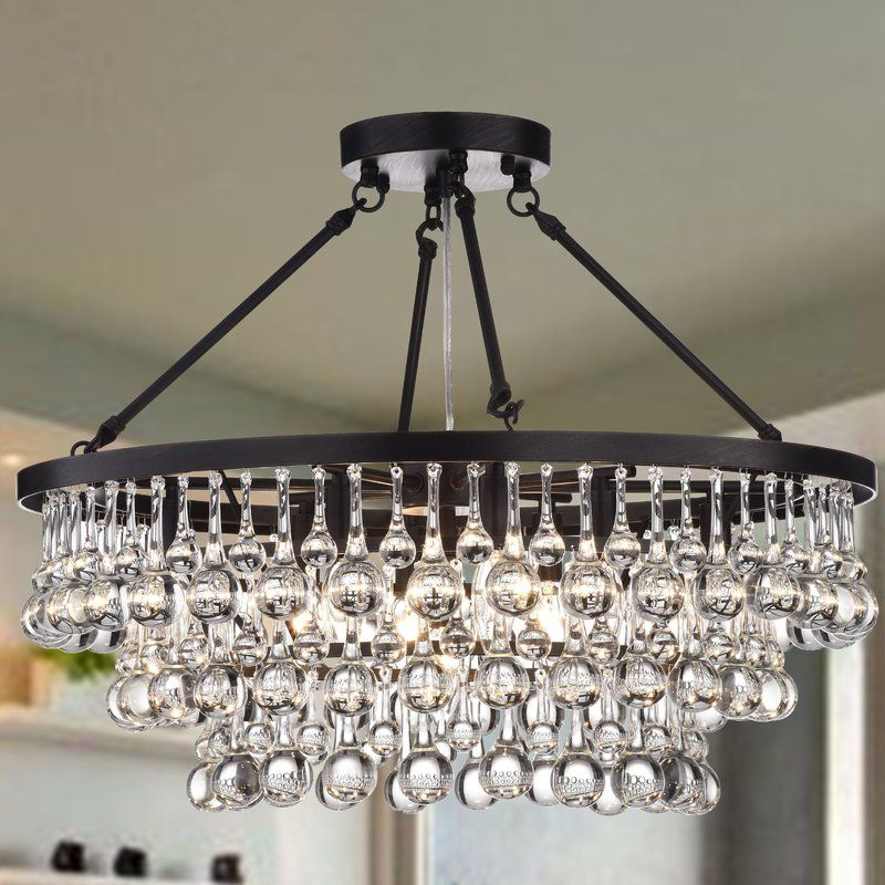 Mcknight 9 Light Semi Flush Mount | Nana's Nest In 2019 Within Whitten 4 Light Crystal Chandeliers (View 9 of 20)
