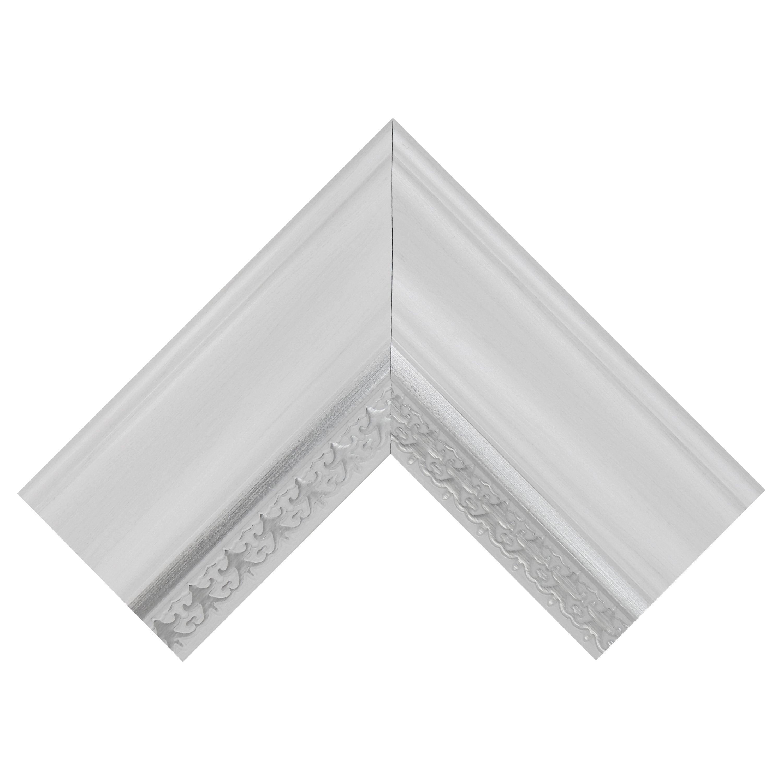 Mcs Industries White Woodgrain Wall Mirror With Silver Leaf Accent Within Farmhouse Woodgrain And Leaf Accent Wall Mirrors (View 20 of 20)