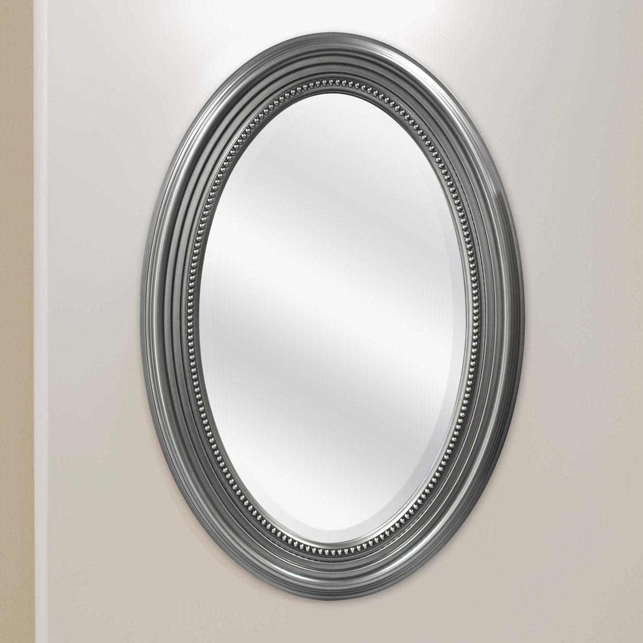 Mcsindustries Beaded Accent Mirror & Reviews | Wayfair With Regard To Beaded Accent Wall Mirrors (View 14 of 20)