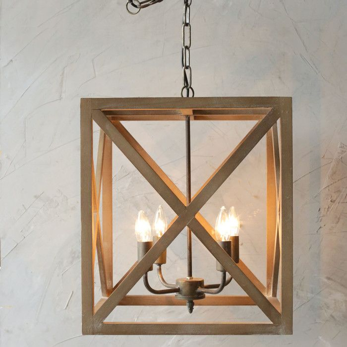 Melody 4 Light Chandelier & Reviews | Joss & Main | Altus Intended For Hewitt 4 Light Square Chandeliers (View 12 of 20)