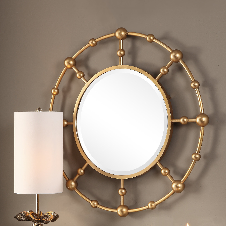 Mercer41 Burrell Round Accent Mirror   Wayfair With Matthias Round Accent Mirrors (View 4 of 20)