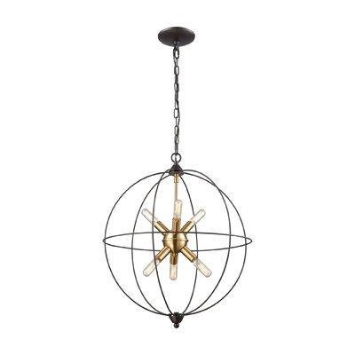 Mercury Row Cogdill 6 Light Globe Chandelier Intended For Joon 6 Light Globe Chandeliers (Image 20 of 20)