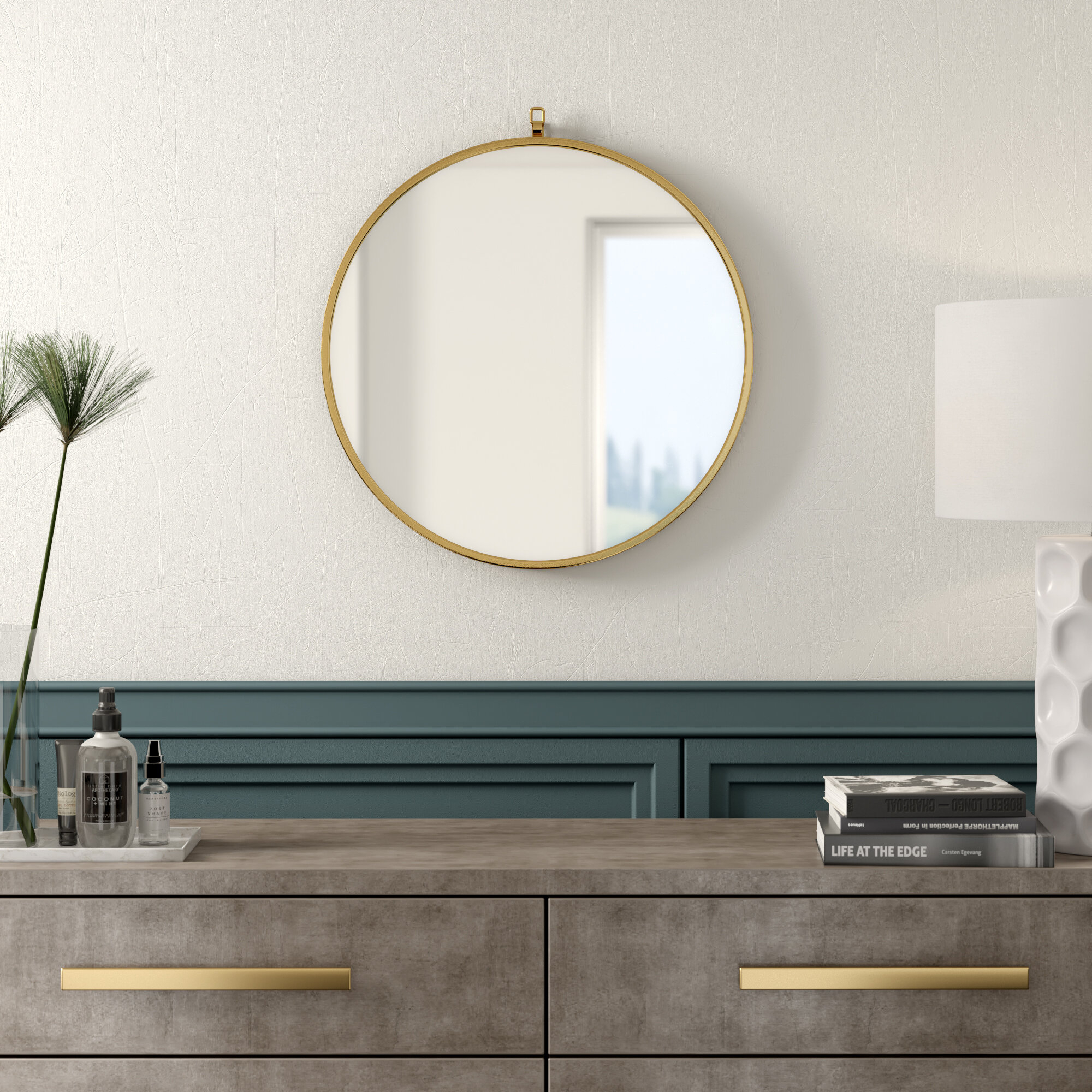 Mercury Row Yedinak Modern Distressed Accent Mirror With Yedinak Modern Distressed Accent Mirrors (View 2 of 20)