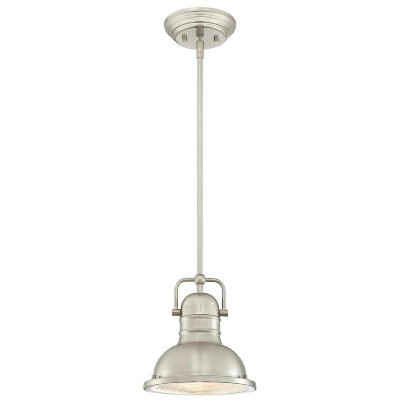 Merrick 1 Light Dome Pendant Regarding Hamilton 1 Light Single Dome Pendants (Image 16 of 25)
