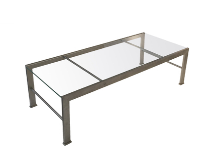 Metal And Glass Coffee Table – Unmiset Intended For The Curated Nomad Quatrefoil Goldtone Metal And Glass Coffee Tables (View 24 of 50)