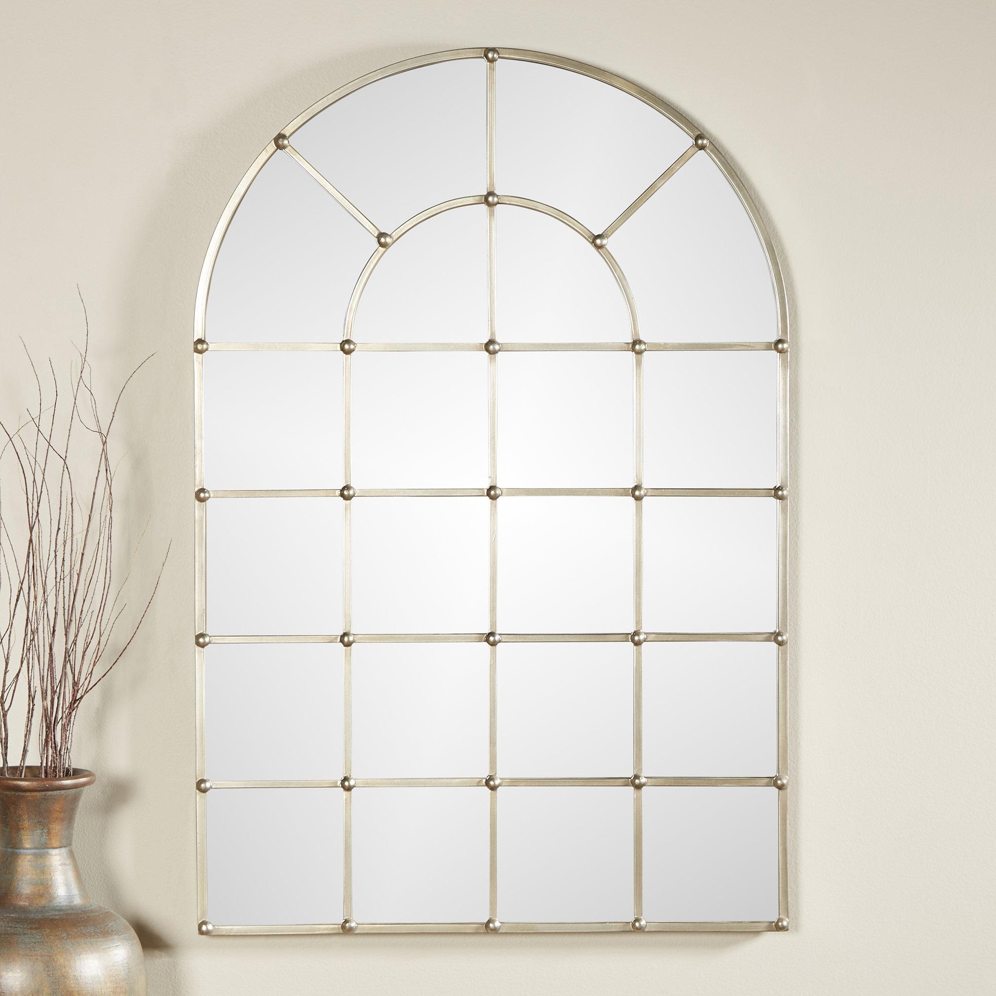 Metal Arch Window Wall Mirror Inside Metal Arch Window Wall Mirrors (Image 15 of 20)