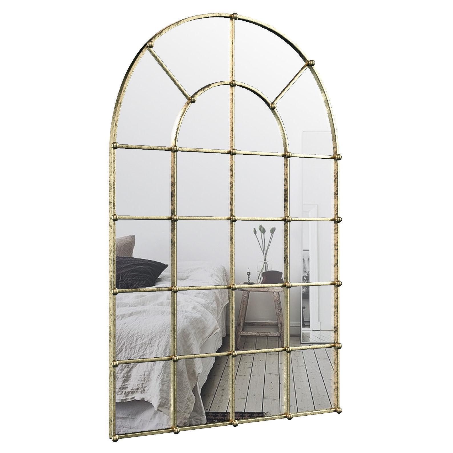 Metal Arch Window Wall Mirror Oawy8570 | 3D Model Inside Metal Arch Window Wall Mirrors (Photo 19 of 20)