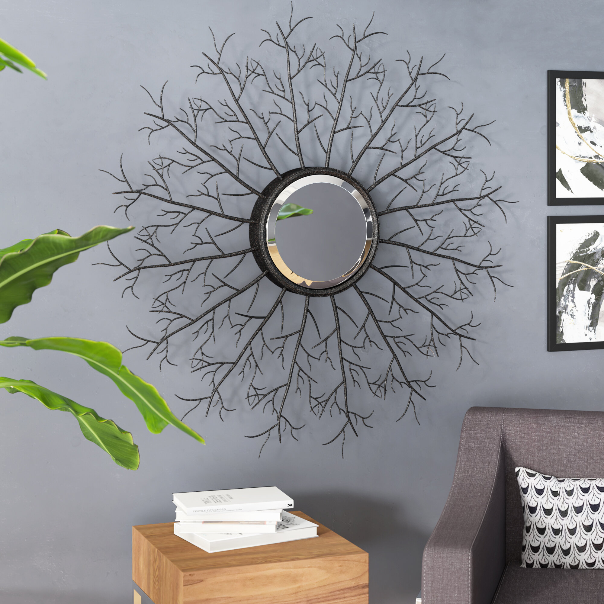 Metal Branch Wall Mirror Inside Cromartie Tree Branch Wall Mirrors (View 5 of 20)
