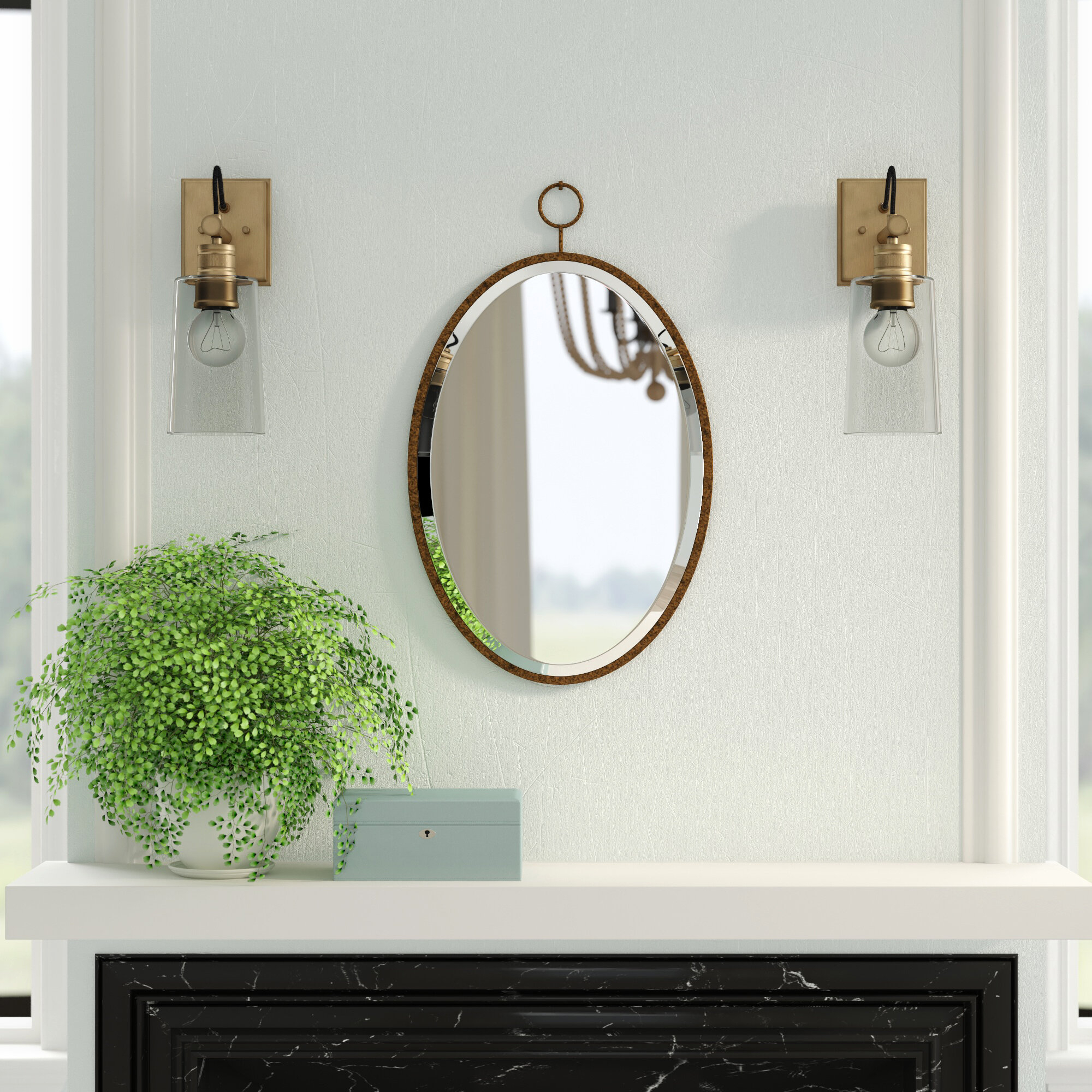 Metal Wall & Accent Mirrors | Joss & Main Intended For Yedinak Modern Distressed Accent Mirrors (View 15 of 20)
