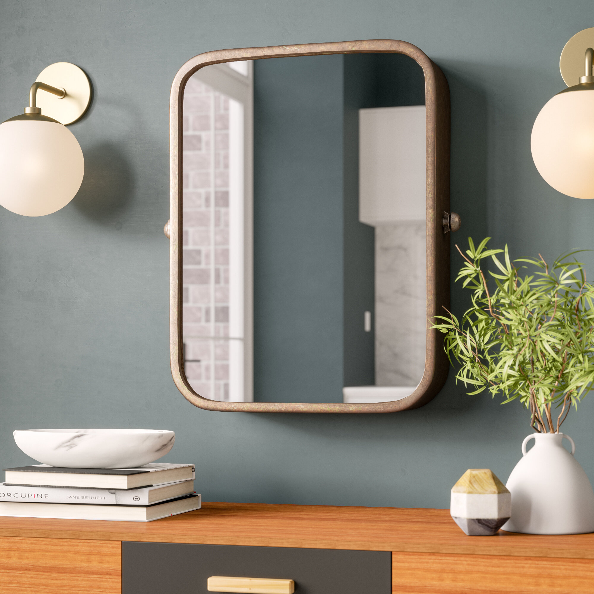 Metal Wall Mirrors You'll Love In 2019 | Wayfair Pertaining To Koeller Industrial Metal Wall Mirrors (View 6 of 20)
